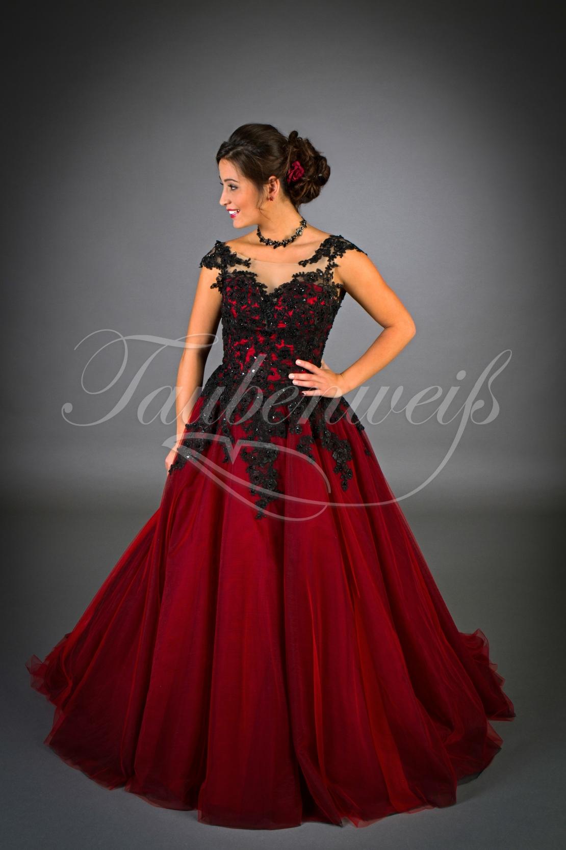 Brautkleid TW12B beeindruckt in gewagtem Rot und Schwarz